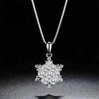Snowflake Pendant Necklace Bridesmaid Bridal Shower Christmas Winter Jewelry