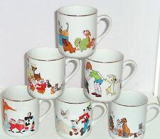 Walt Disney Productiona Alice Mickey Snow White Pooh Tigger Mug Vintage Lot of 6