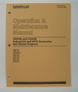 Caterpillar Operation Maintenance Manual 3304B 3306B Industrial EPG Gen Set Eng