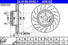 Bremsscheibe (2 Stück) - ATE 24.0136-0102.1