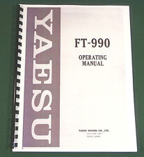 Yaesu FT-990 Instruction Manual -  Premium Card Stock Covers & 32 LB Paper!