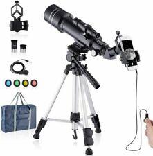 HUTACT Télescope Réfracteur HD 400/70mm - Noir (FXKJ-502)