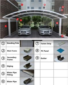 Double Aluminum Carports/Pergolas 5.5 m X 5.8 m Supply ONLY ON SALE