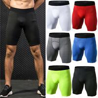 Men Compression Shorts Running Workout Sports Trunks Gym Underwear Short Pants