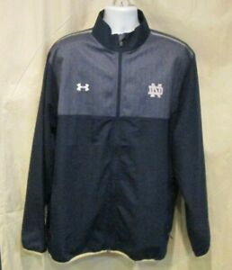 Notre Dame Loose Under Armour Full Zip Lightweight Jacket Size 3XL