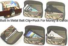 Holster+Metal Belt Clip Horizontal Wallet Pouch To Fit With Thick Rubber Case On