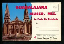 Postcard Folder Mexico Guadalajara Jalisco Capitol Mariachi Band Cathedral Plaza