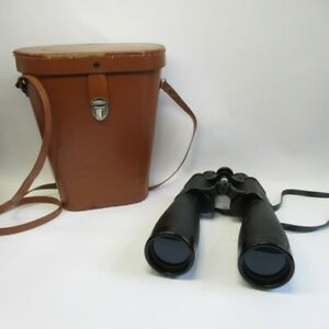 Tohyoh Tokyo Binoculars 25 x 50 Coated Optics w/ Hard Brown Case No. 34793