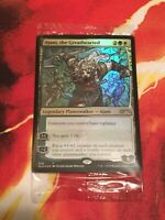 Stained Glass Ajani Greathearted Secret Lair FOIL Planeswaker IN HAND MtG AltArt