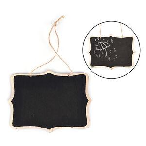 Mini Wooden Wedding Blackboard Chalkboard Hanging Message Number Party Decor HF