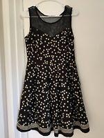 Modcloth Dress Polka Dot Dress With Mesh M