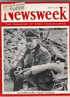 1945 Newsweek April 9 - Patton sprints through Germany; Fanatic Nazis hold on