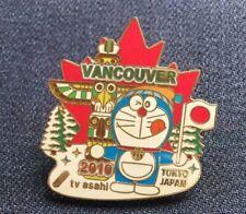 Vancouver Olympics Pin Badge Doraemon TV Asahi Tokyo Moth Anime Japan F/S