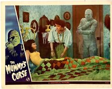 """The Mummy's Curse 1945  Lobby Card 1/4"""" trimmed from right side of card  11 x 14"""