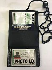Black Neck Safe Boarding Pass Ticket Passport Holder Wallet