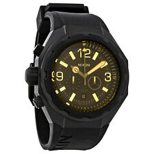 Nixon Steelcat Black Dial Mens Chronograph Watch A3131354