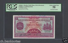 Barbados -Antigua 5 Dollars 1-3-1940 PS108s Provisional Issue Specimen AUNC