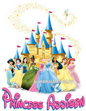 New Personalized Custom Disney Princess T Shirt Party Favor Birthday Gift