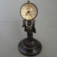Antique Vintage Bronze sculpture exquisiteness angel mechanical ball clock
