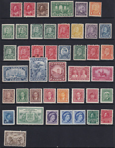 Canada Early Unused Stamp Lot  Mostly MH  HICV