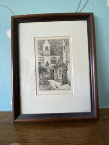 Pair Of Antique Original Etchings Of Bruges *Signed by Artist*. RARE Collectable