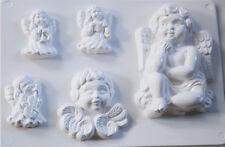 5 STAMPI ANGIOLETTI CHERUBINI FORMINE MOLDS ANGELI CON ALI NATALE ANGELS
