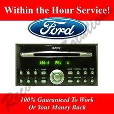Ford Sony 6000CD Radio-V Serial Radio Desbloqueo de códigos