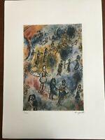 Chagall Marc Litografia cm 50x70 con fotoautentica edizione SPADEM firma matita