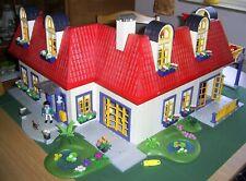 Playmobil Großes Wohnhaus 3965 mit Eck Erweiterung 7338 mit Einrichtung und mehr