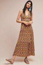 New Anthropologie Maeve Luella Maxi Dress Yellow Print Size XS $148