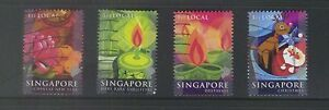 SINGAPORE 2004 FESTIVALS 1ST CLASS LOCAL BOOKLET PANE COMP. SET OF 4 STAMPS USED