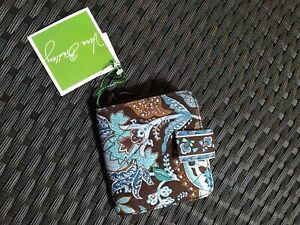 Vera Bradley Mini Zip Java Blue Wallet