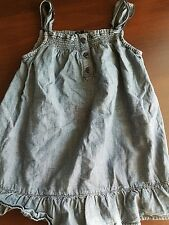 baby gap girl summer denim look blue dress 2-3 years