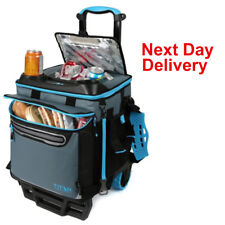 Titan 22.5 Litre 60 Can Rolling Cooler Bag And Trolley Terrain Cart + Ice Bag