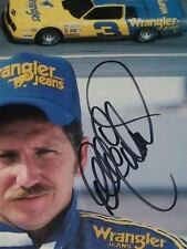 "DALE EARNHARDT #3 WRANGLER JEANS CHEVROLET 8x10"" NASCAR PHOTO"