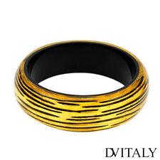 DV ITALY Lovely New Bracelet  Made in Two Tone Plastic 8in