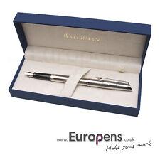 Waterman Hemisphere Steel Fountain Pen M Chrome Trim Personalised ENGRAVED Gift