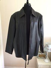 Essence Evans Ladies Pvc Faux Leather Jacket Size 20 Colour Brown