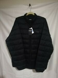 Men's Callaway Black Striped Puffer Jacket- New With Tags