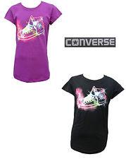 Converse Girls Purple Cactus/Jet Black T-Shirt Converse Boot 100% Genuine 3