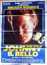manifesto movie poster 2F JOHNNY IL BELLO Mickey Rourke WALTER HILL CINEMA