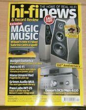 Hi-Fi News & Record Review magazine Dec 2020 Wilson's Sabrina +Pro-Ject EVO deck