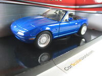 MAZDA MX5 MIATA (NA) CUSTOMIZE WITH BBS RG RIMS 1/24 MOTORMAX (BLUE)