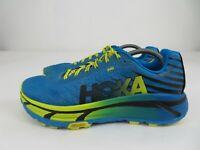 Hoka One One Evo Mafate Blue Yellow Running Athletic Shoes Mens Size 12 M