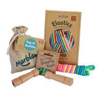 Daju Classic Games Set - Elastics, Marbles, Skipping Rope