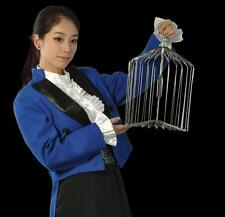 Silver Steel Appearing Bird Cage/Dove appearing cage - Magic trick,small size