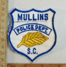 MULLINS  SOUTH CAROLINA POLICE  FABRIC PATCH