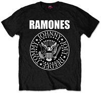 Official Ramones Presidential Seal Logo T-Shirt Black Mens Tee Band Music Merch