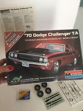 Vintage Monogram '70 Dodge Challenger T/A 1983 release.   Turtle wax included.