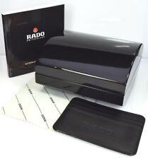 Rado Watch Wood Storage Box, Polishing Cloth, Card Holder, & Booklet Set